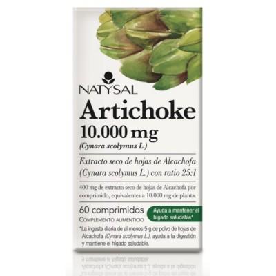 Artichoke 10.000 mg 60 comprimidos Natysal Natysal 13447 Higado y sistema hepatobiliar salud.bio
