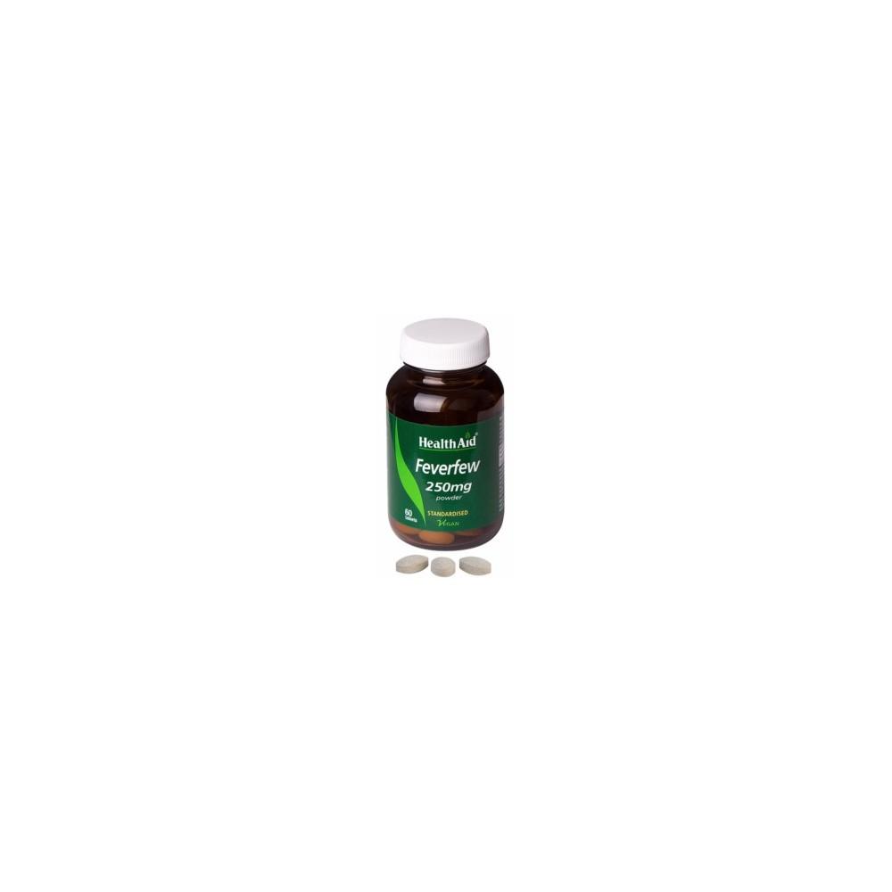 Matricaria de Health Aid  (Feverfew) Health Aid 804105 Suplementos Naturales acción Analgesica, Antiinflamatoria, malestar, d...