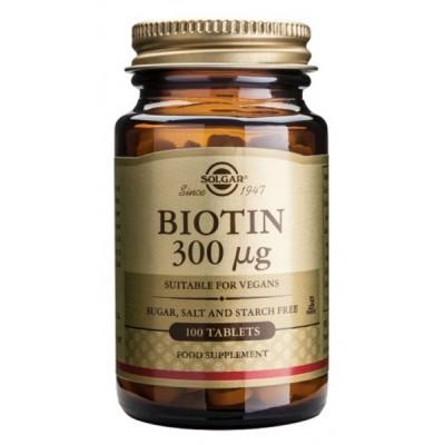 Biotina 300mcg. Solgar SOLGAR 050280 Vitaminas y Minerales salud.bio