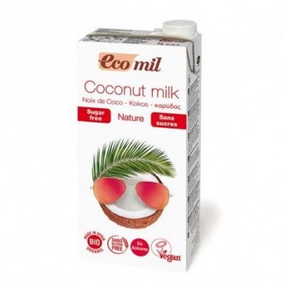 Bebida Coco Natural Sin Azúcar Ecológica Ecomil 1l