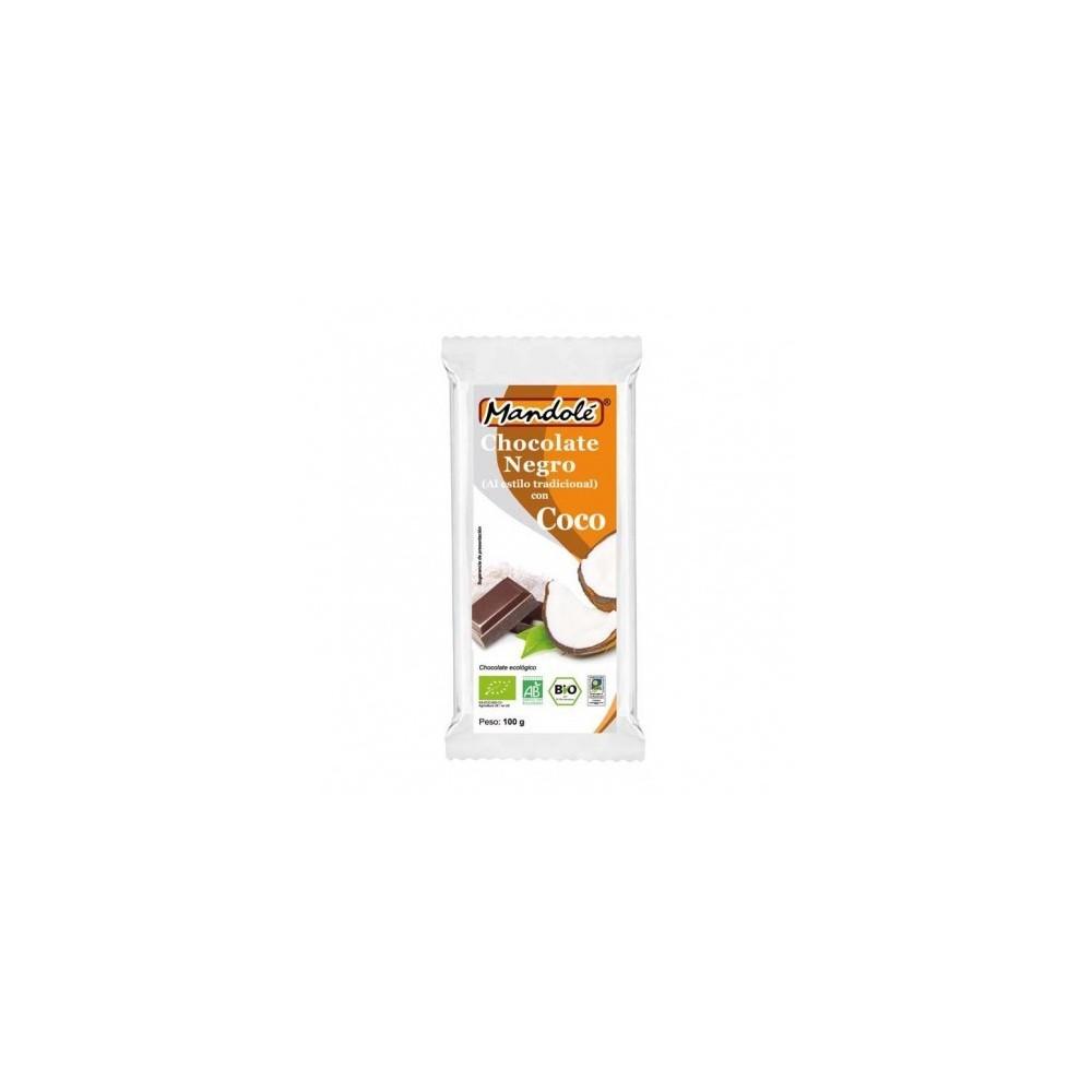 Chocolate negro BIO con Coco (60% cacao) en tableta 100 grs Mandolé 3505052723 Alimentación salud.bio