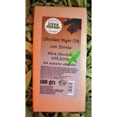 Chocolate Negro y Stevia - 100 gr