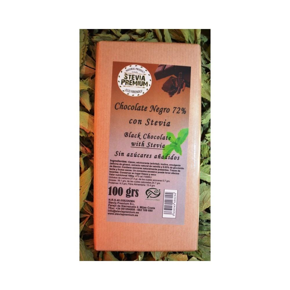 Chocolate Negro y Stevia - 100 gr Stevia Premium 4380052294 Chocolates salud.bio