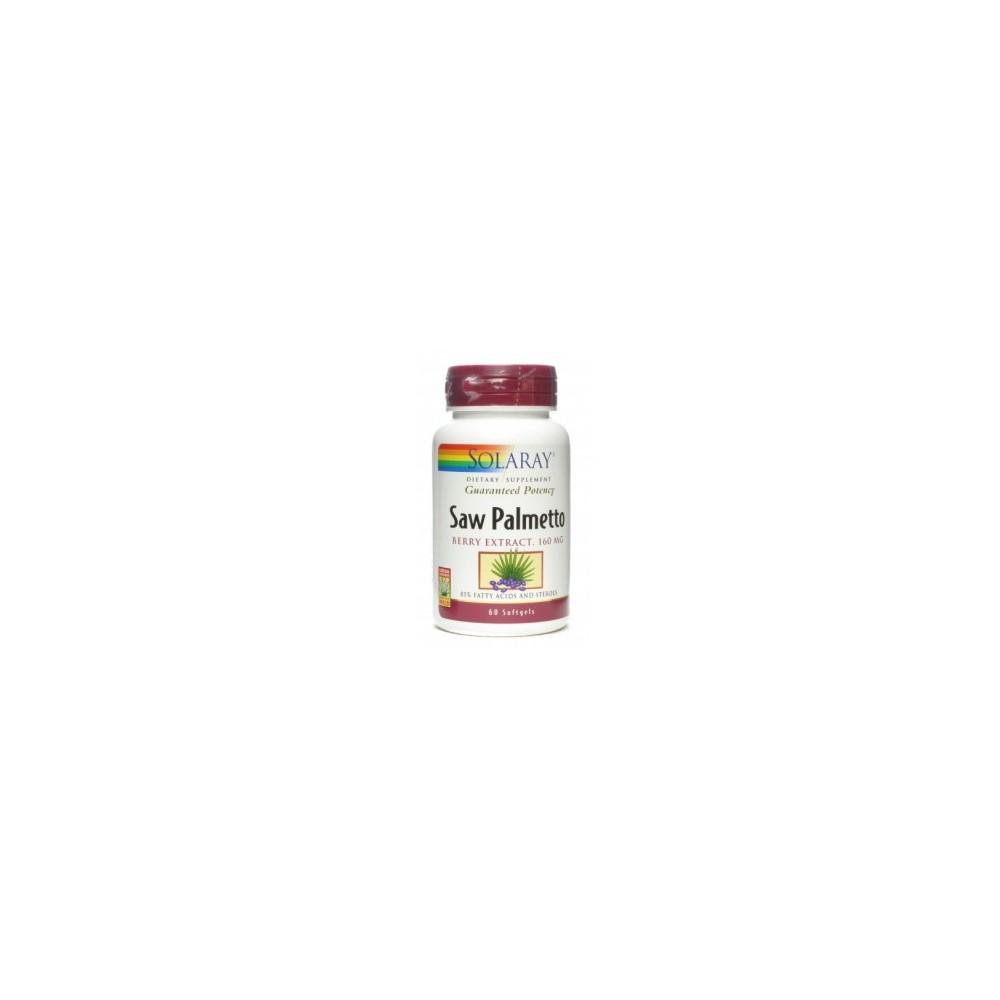 Solaray Saw Palmetto (Berry Extract 160mg) SOLARAY  Sistema inmunitario salud.bio