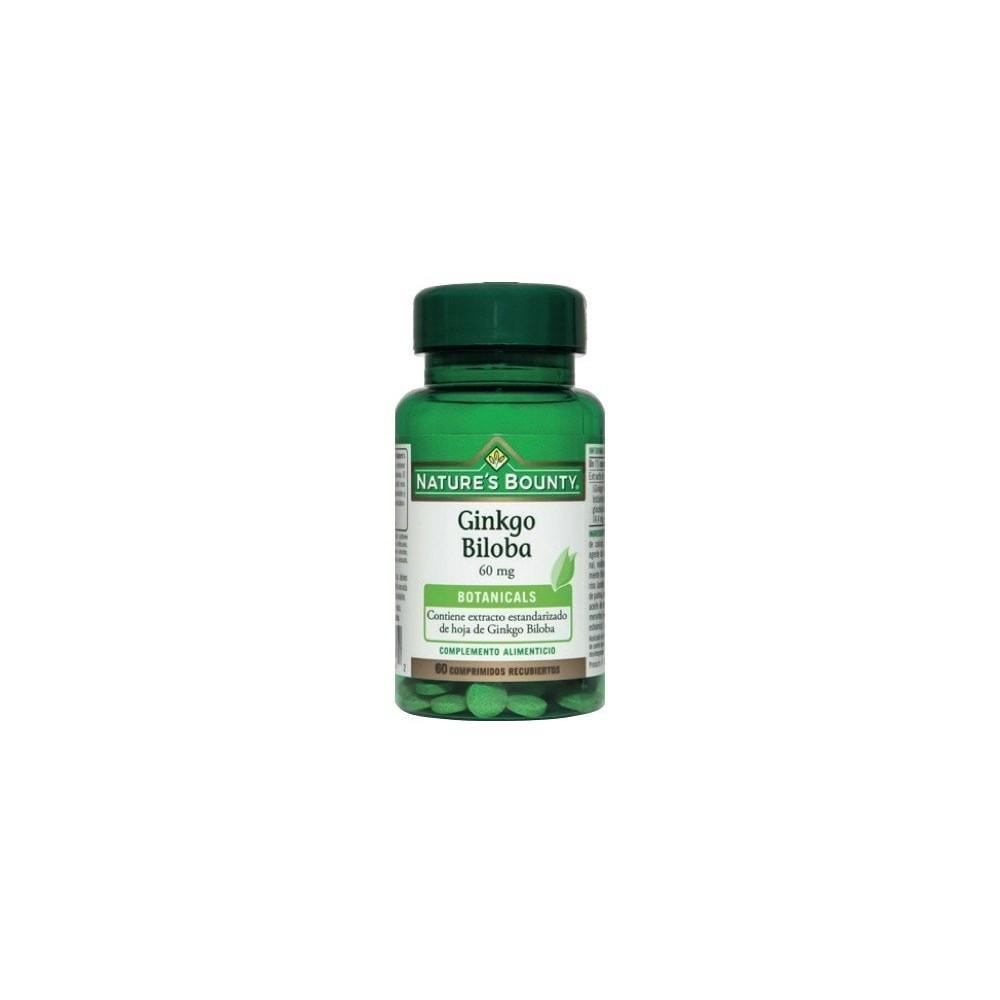 Ginkgo 60mg Nature´s Bounty NATURE´S BOUNTY 03649 Sistema circulatorio salud.bio