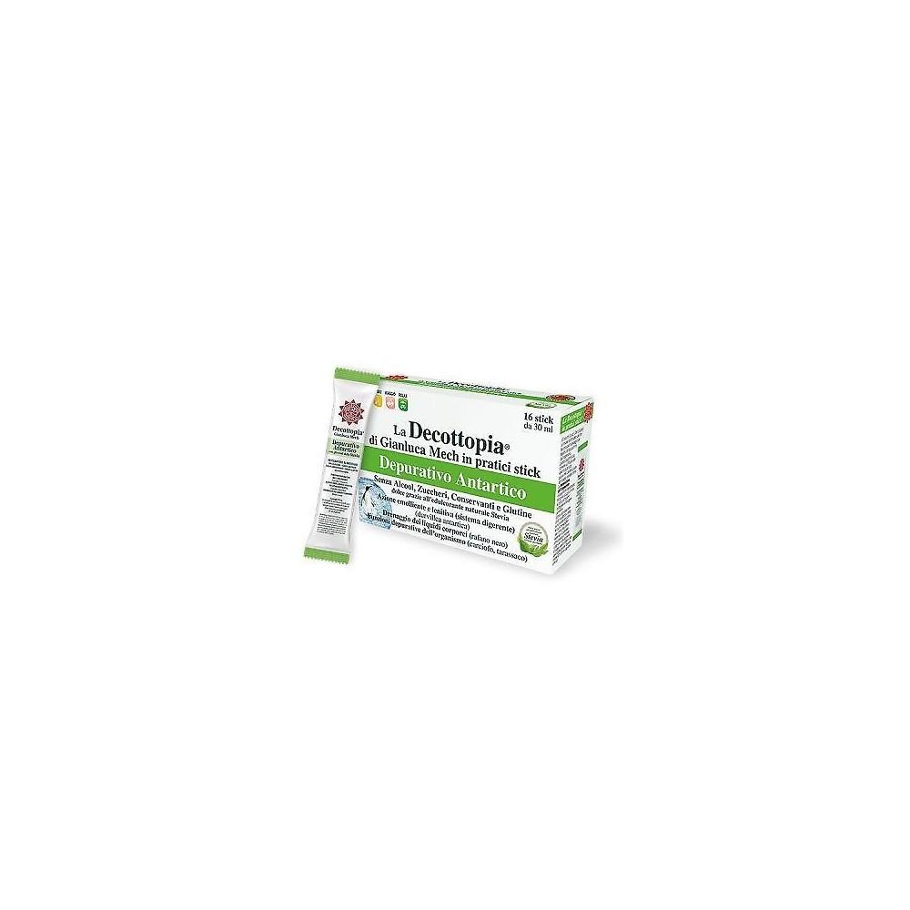 DECOPOCKET DEPURATIVO ANTARTICO CON STEVIA 16 X 30 ML GIANLUCA MECH HFFSTK1602ST0 Control de Peso salud.bio