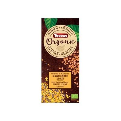 """Chocolate negro con sésamo y polen """"orgánico"""" - Torras Chocolates Torras TO 37767 ECO (ecologico), BIO (biologico), Organico ..."""