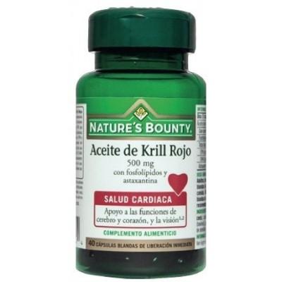 Aceite de Krill Rojo 500mg Nature's Bounty Nature's Bounty 03618 Inicio salud.bio