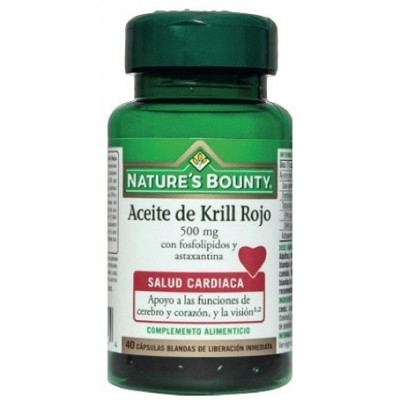 Aceite de Krill Rojo 500mg Nature´s Bounty