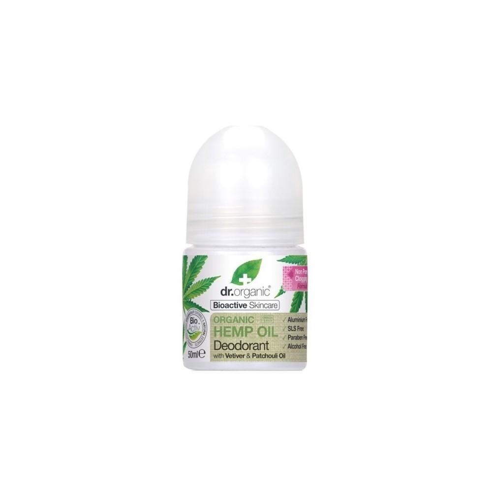 Desodorante de aceite de cañamo (Organic Hemp) de Dr. Organic Doctor Organic 00482 Cosmética Natural salud.bio