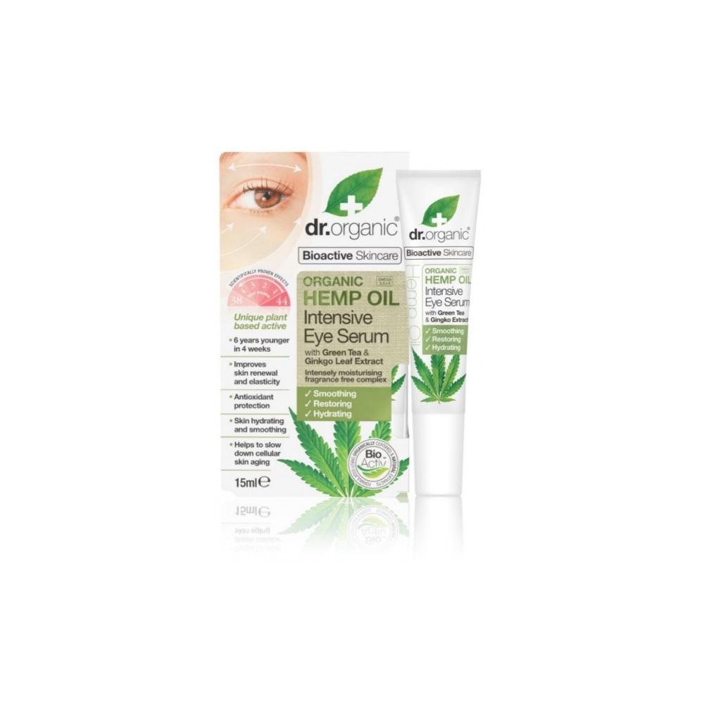Serum Contorno de Ojos Aceite de Cañamo Dr Organic Doctor Organic DR00484 Cosmética Natural salud.bio