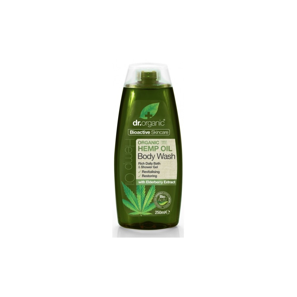 Gel de Ducha Aceite de Cañamo de Dr Organic Doctor Organic DR00494A Cosmética Natural salud.bio