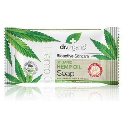 Jabon en pastilla de Aceite de Cañamo Dr Organic Doctor Organic 00496 Cuidado externo e higiene salud.bio