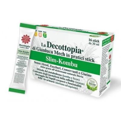 Decottopia Slim Kombu con Estevia 16 Sticks GIANLUCA MECH 39785 Control de Peso salud.bio