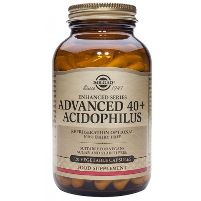 Advanced 40+ Acidophilus de solgar SOLGAR  Ayudas aparato Digestivo salud.bio