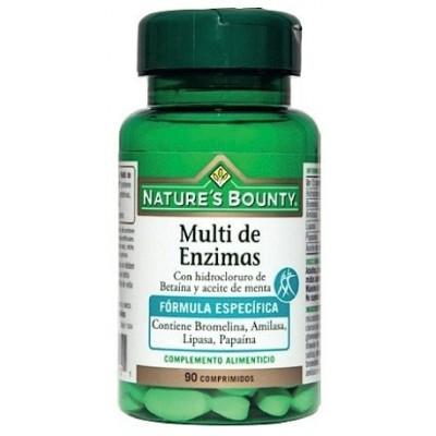 Multi Enzimas + Betaina + Aceite de Menta Nature's Bounty Nature's Bounty 03619 Ayudas aparato Digestivo salud.bio