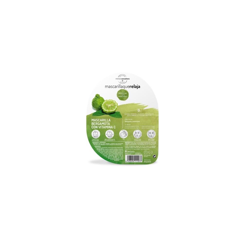 Mascarilla que relaja Bergamota y vitamina C de Herbora Herbora h11107 Cosmética Natural salud.bio