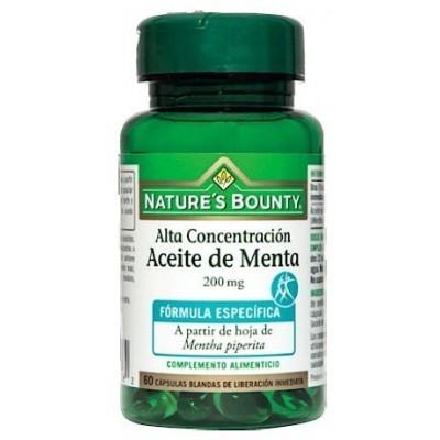 Aceite de Menta 60 perlas 200mg de Nature's Bounty Nature's Bounty 03622 Inicio salud.bio