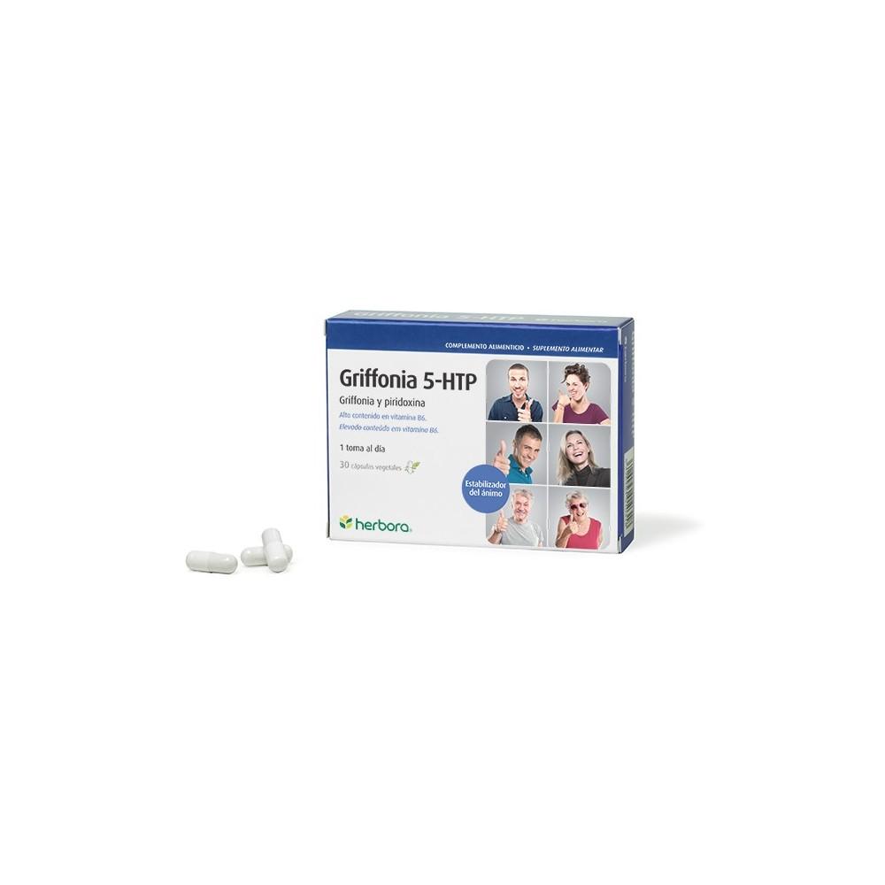 Griffonia 5-HTP de Herbora Herbora 501031 Estados emocionales, ansiedad, estrés, depresión, relax salud.bio