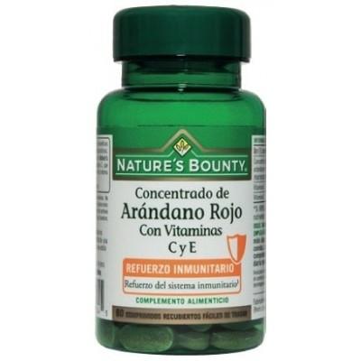 Concentrado de Arándano Rojo + Vitaminas C y E de Nature's Bounty Nature's Bounty 03601 Inicio salud.bio