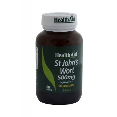 Hipérico 500mg St John`s Wort de HealthAid Health Aid 804255 Estados emocionales, ansiedad, estrés, depresión, relax salud.bio
