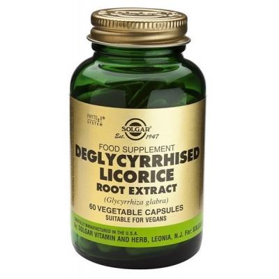 Solgar Regaliz Desglicirrizado Extracto De Raíz , Cápsulas Vegetales SOLGAR 184118 Ayudas aparato Digestivo salud.bio