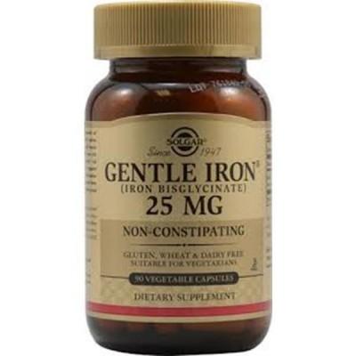 Hierro Gentle 20mg 90 cápsulas SOLGAR 101249 Vitaminas y Minerales salud.bio