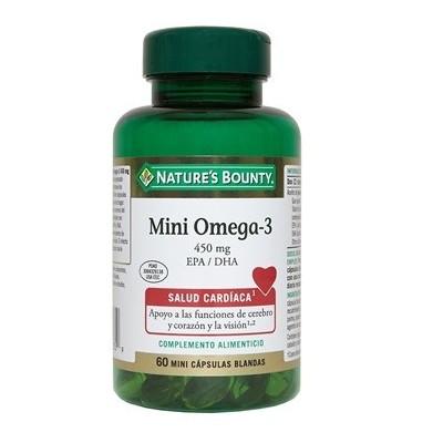 Mini Omega-3 de Nature's Bounty NATURE´S BOUNTY 50755 Ayudas niveles Colesterol y Trigliceridos salud.bio