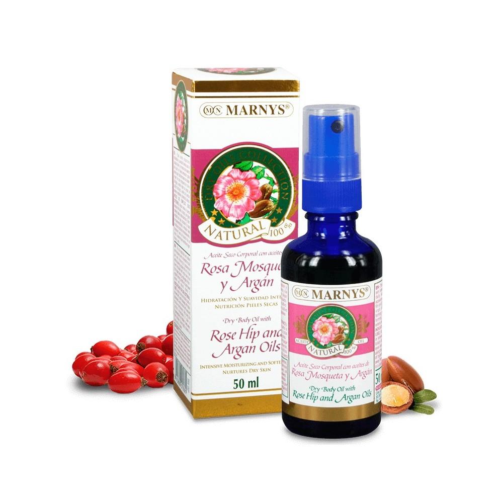 Aceite seco con Rosa mosqueta y Argán 50ml de Marnys Marnys AP217 Uso tópico salud.bio