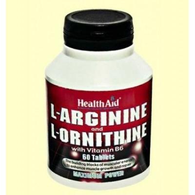 L-Arginina y L-Ornitina con Vitamina B6 de Health Aid