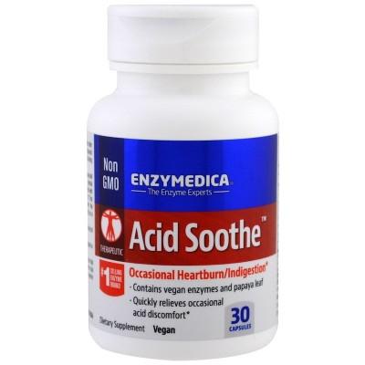 Acid soothe 30 cápsulas Vegetales de Enzymedica Enzymedica ENZ13121 Ayudas aparato Digestivo salud.bio