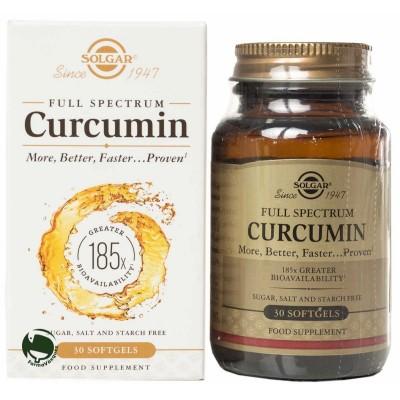 Full Expectrum Cúrcuma Solgar 30 cápsulas SOLGAR 1659597 Suplementos Naturales acción Analgesica, Antiinflamatoria, malestar,...