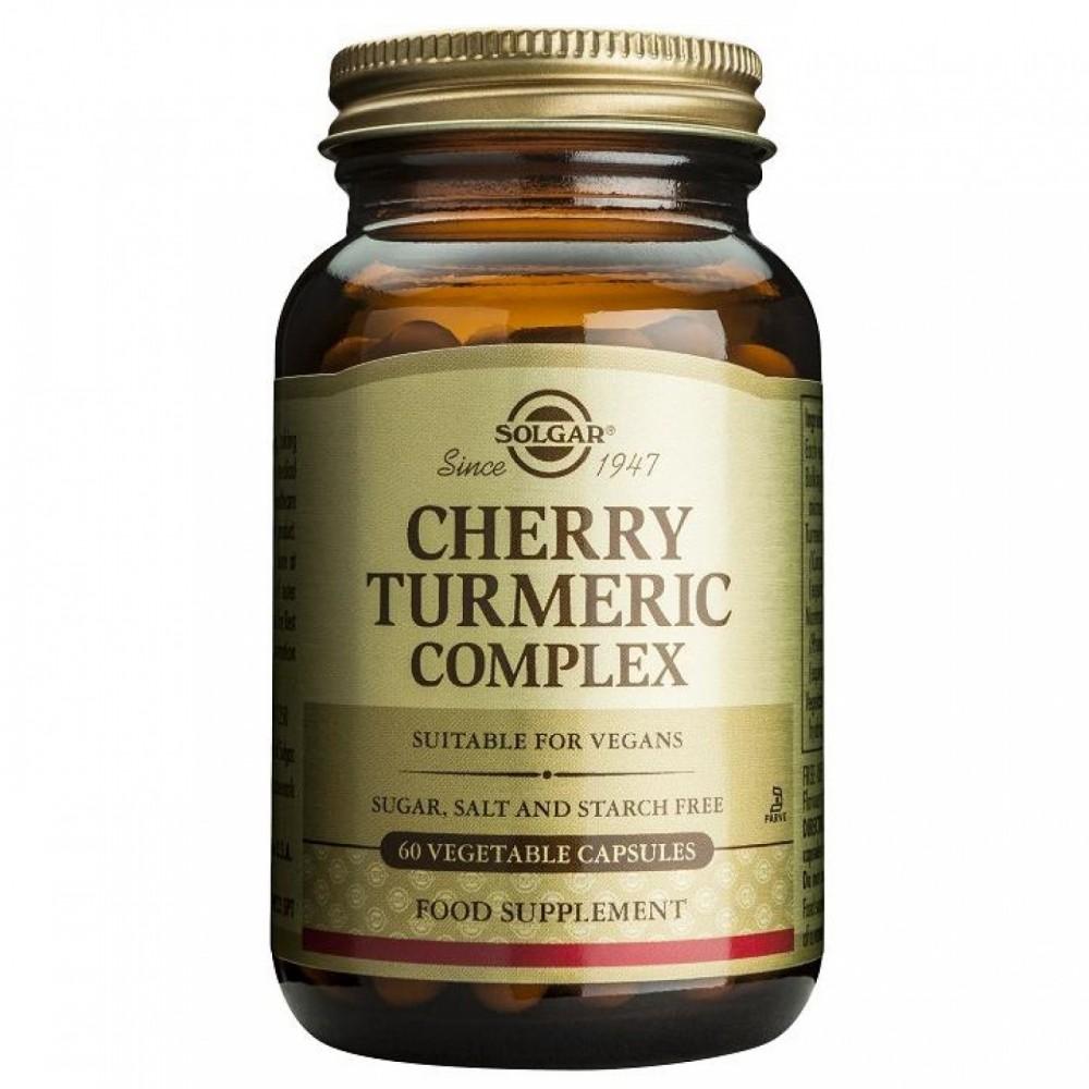 Cúrcuma y Cerezas Complex Solgar 60 Cápsulas SOLGAR 1636213 Suplementos Naturales acción Analgesica, Antiinflamatoria, malest...