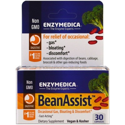 Bean Assist 30 Cápsulas de Enzymedica