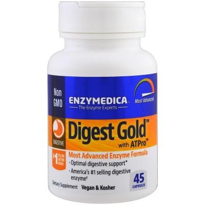 Digest Gold con ATPro 45 Cápsulas de Enzymedica