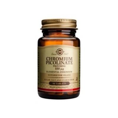 Picolinato Cromo 100mcg. 90 comprimidos de Solgar SOLGAR 101365 Ayuda Glucemia y Diabetes salud.bio