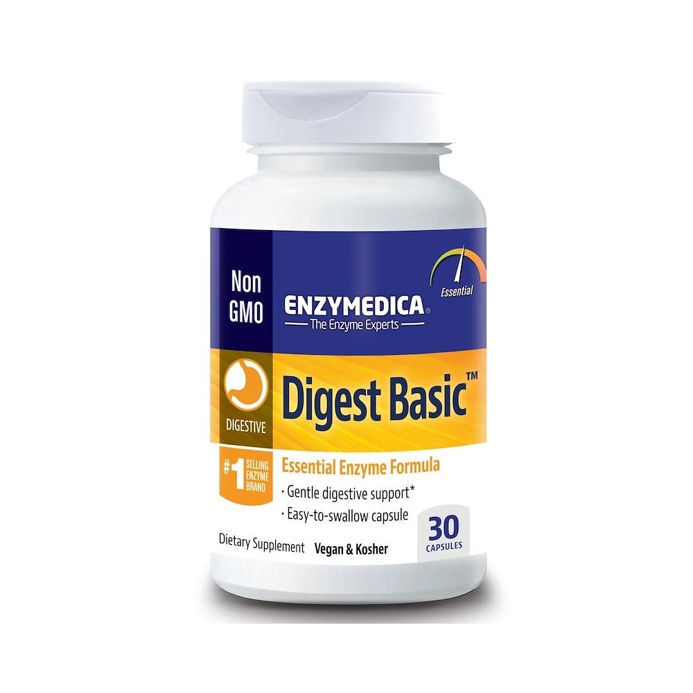 Digest Basic, Fórmula Enzimática Esencial, de Enzymedica Enzymedica ENZ-29050 Ayudas aparato Digestivo salud.bio