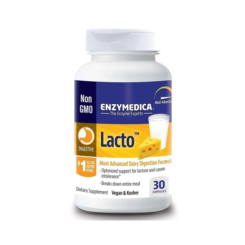 Lacto, Fórmula de Digestión Más Avanzada de Enzymedica Enzymedica ENZ-24120 Ayudas aparato Digestivo salud.bio