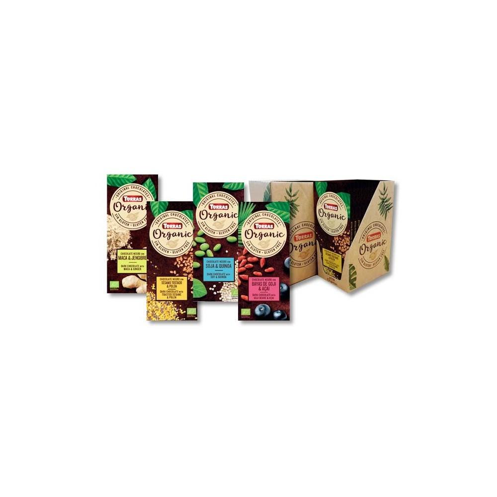 Chocolate Orgánico negro 70% cacao con flor de sal Torras Chocolates Torras TO 40202 ECO (ecologico), BIO (biologico), Organi...