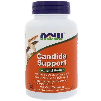 Apoyo de cándida, cápsulas vegetales de Now Foods