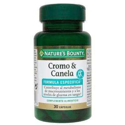 Cromo y Canela en cápsulas de Nature's Bounty