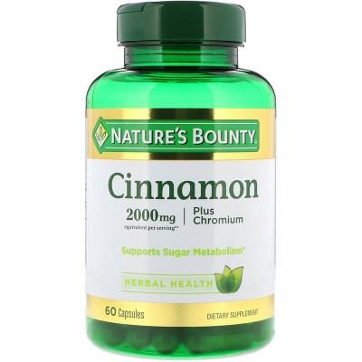 Cromo y Canela en cápsulas de Nature's Bounty NATURE´S BOUNTY 71546 Ayuda Glucemia y Diabetes salud.bio