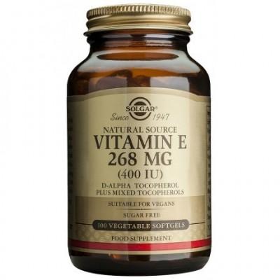 Vitamina E 400 UI 268Mg (400 IU) Solgar SOLGAR  Vitamina E salud.bio