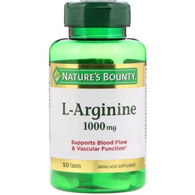 L-Arginina 1.000mg de Nature's Bounty Nature's Bounty NRT-07760 Inicio salud.bio