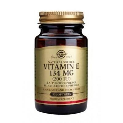 Vitamina E 134Mg (200 IU) Solgar  50 Cápsulas blandas