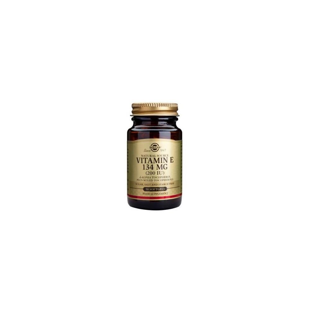 Vitamina E 134Mg (200 IU) Solgar 50 Cápsulas blandas SOLGAR 083500 Inicio salud.bio