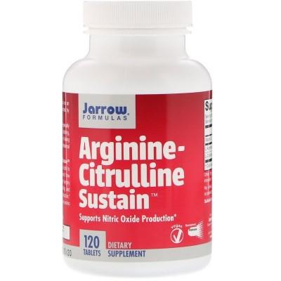 Sostenimiento de arginina-citrulina, 120 tabletas de Jarrow Formulas