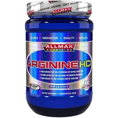 Arginine HCI Maximum Strength 5000 mg, 14 oz (400 g), de ALLMAX Nutrition ALLMAX Nutrition AMX-20040 Aminoácidos salud.bio