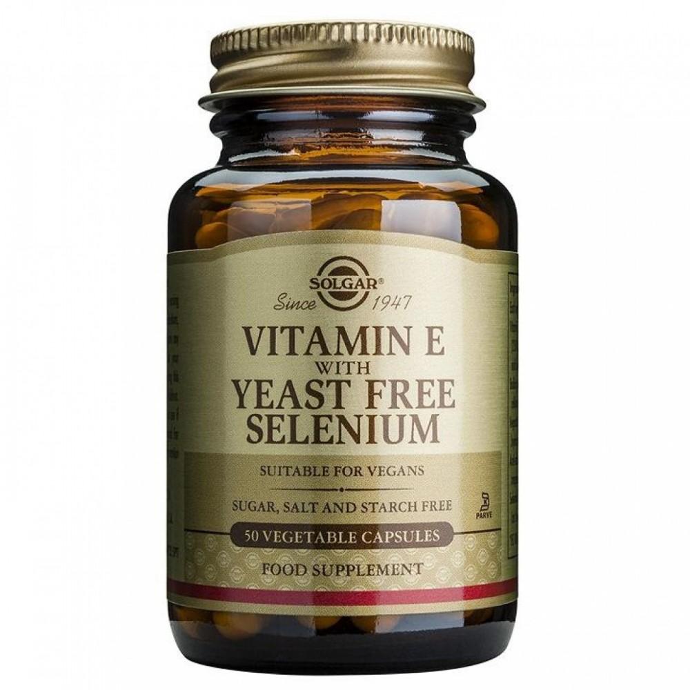 Vitamina E con Selenio 100 Cápsulas Vegetales Solgar