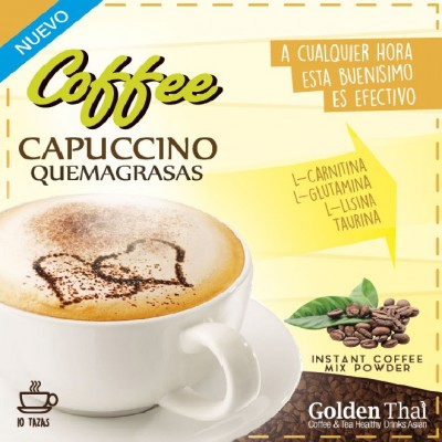 Golden Thai Coffee Quema-Grasas CAPUCCINO Golden Thai  Coffe & Tea Healthy Drink Asian  Quemagrasas y similares salud.bio